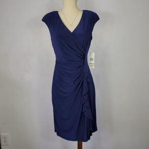 Black Label by Evan Picone Ruched Dress, NWT, 4